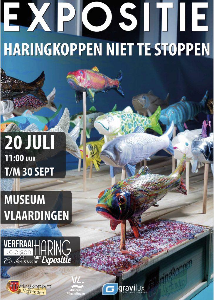 Poster Expositie Haringkoppen niet te stoppen